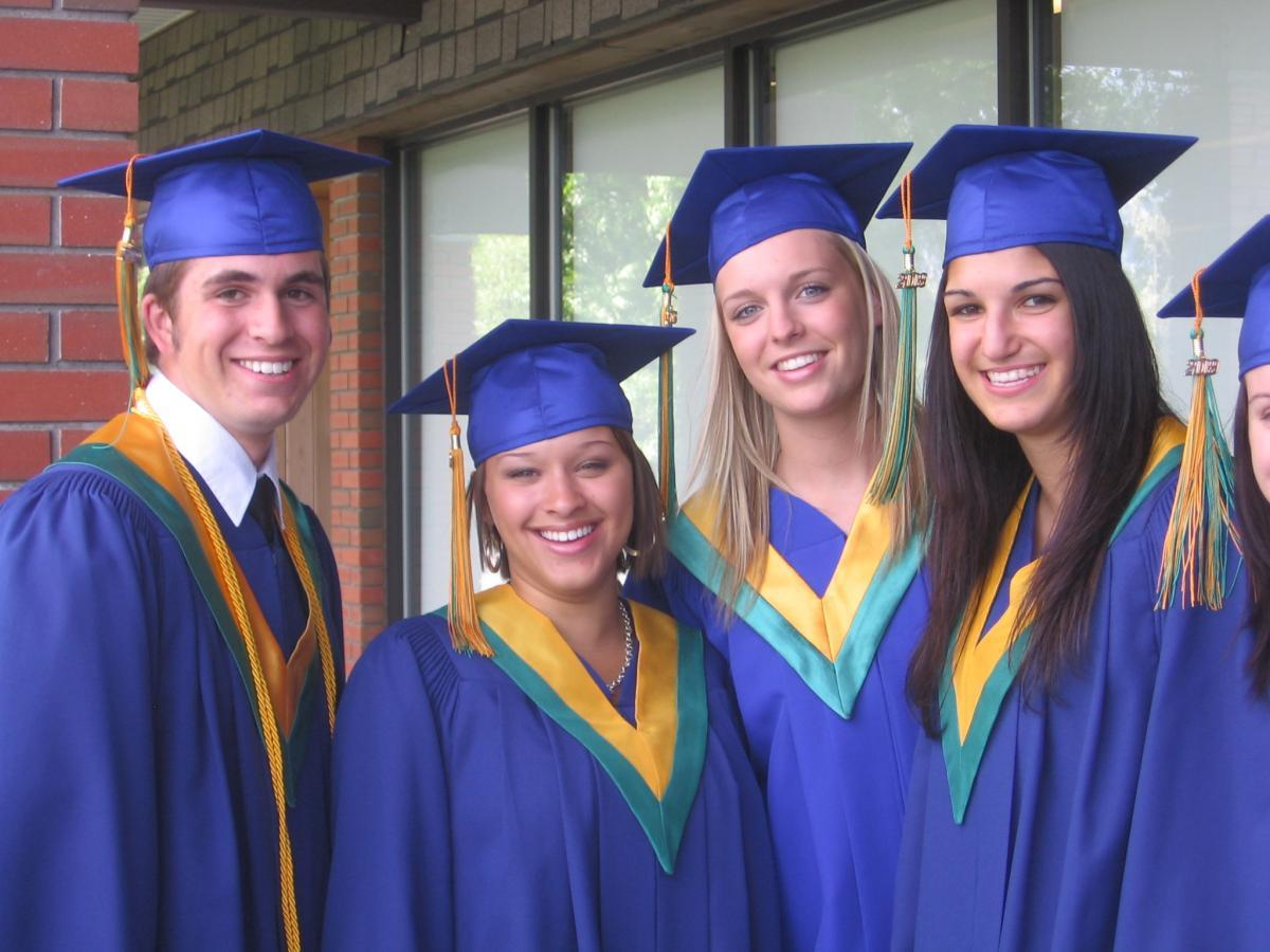 Graduates from Immaculata Catholic High School in Kelowna BC