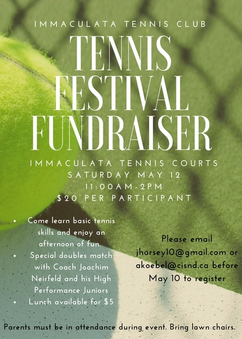 COME OUT AND SUPPORT OUR TENNIS TEAM