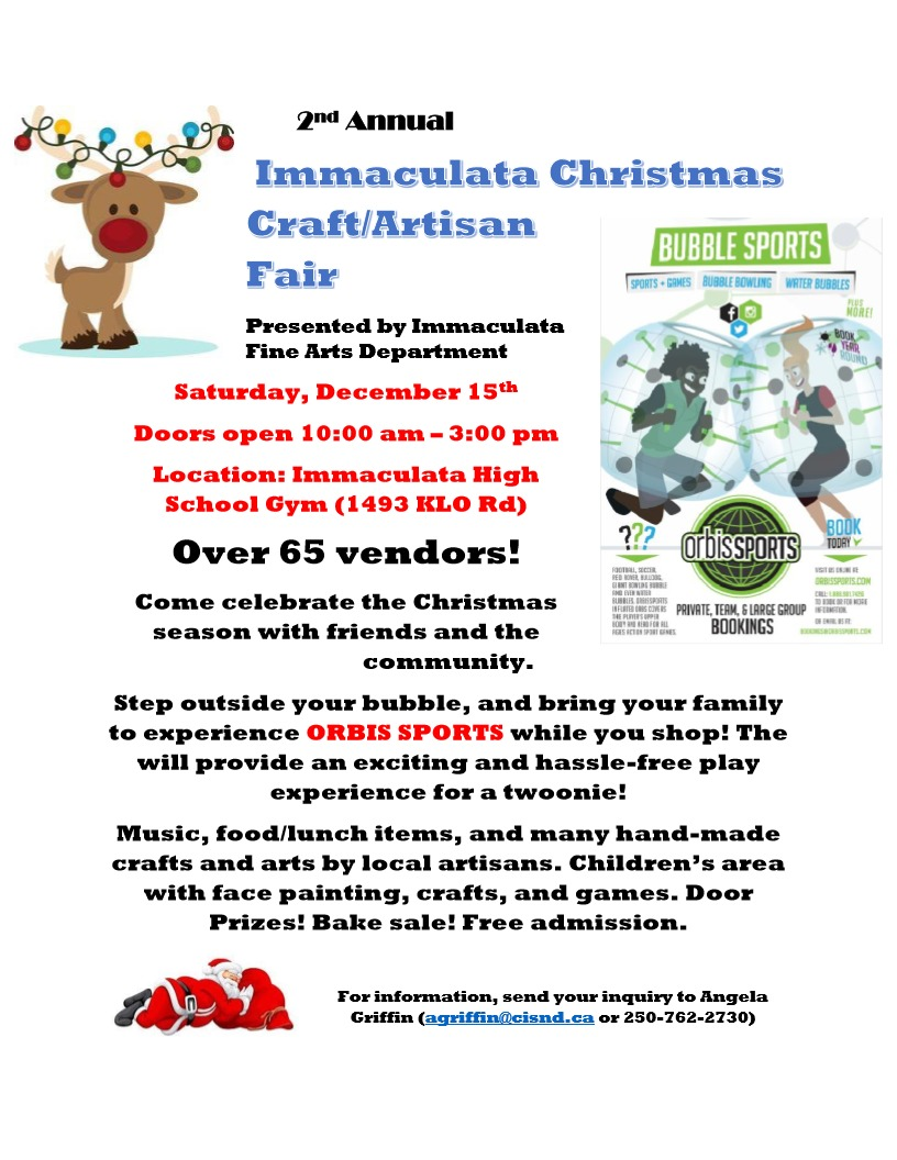 Countdown to the Christmas Craft Fair ! Mark your Calendars!