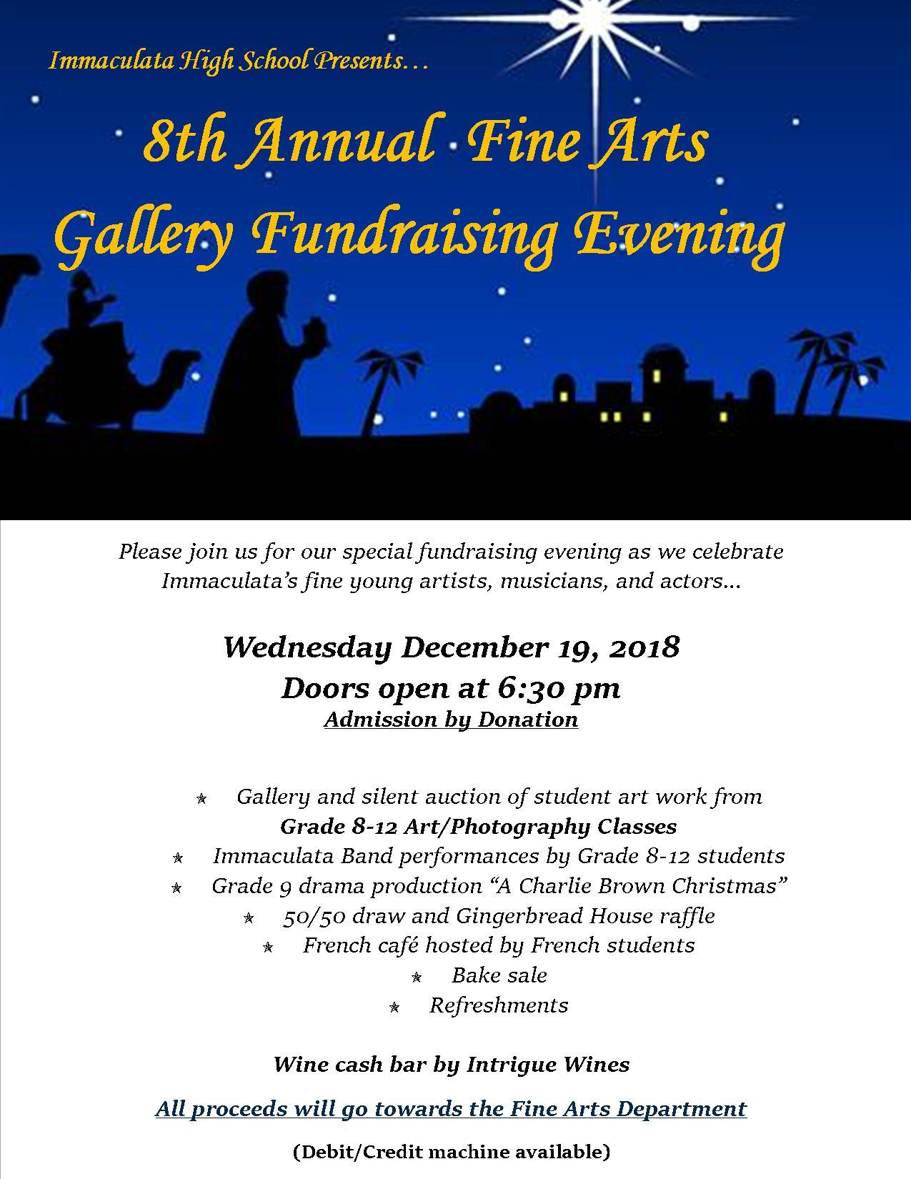 8th Annual Fine Arts Gallery Fundraising Evening