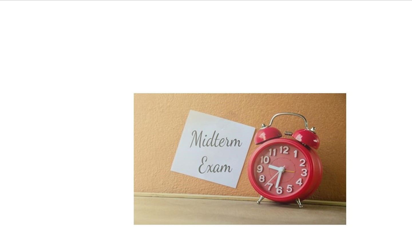 Senior Midterm Exams - April 8 - 10, 2018