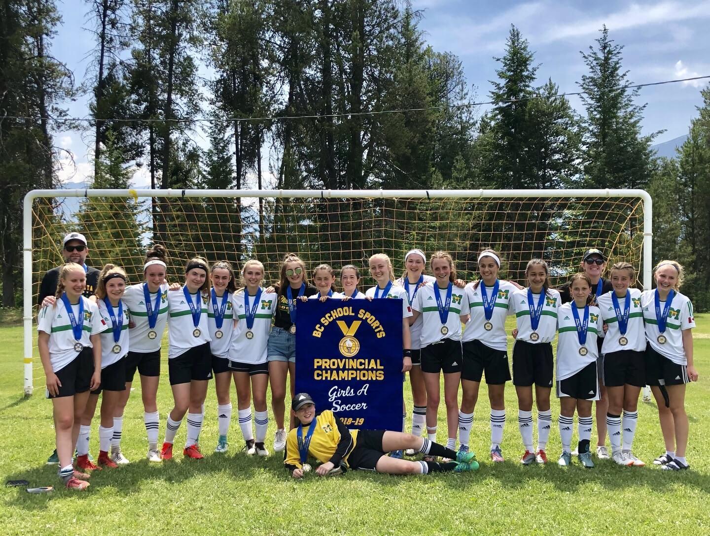 GIRLS SOCCER TEAM WINS PROVINCIAL GOLD