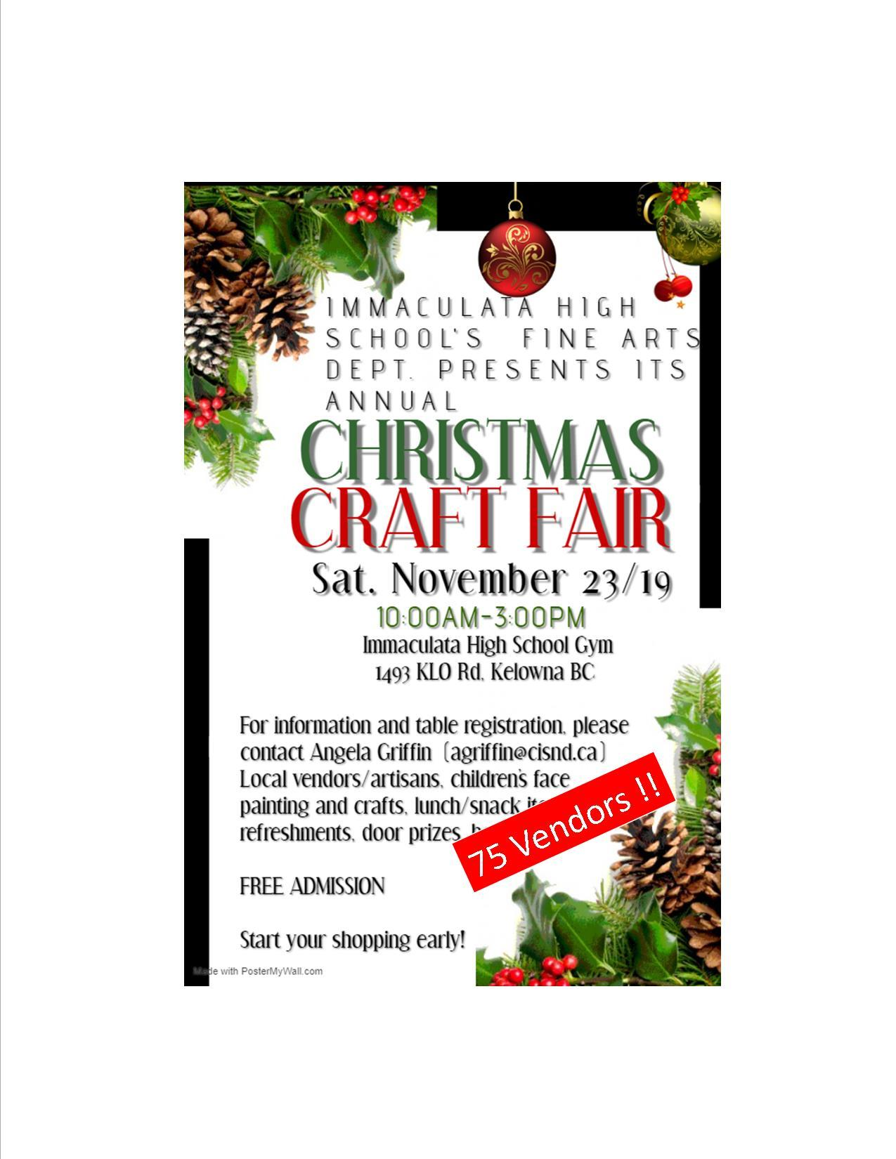 Final Countdown to Christmas Craft Fair!