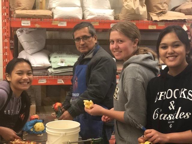 IRHS missionaries were back at pie making!
