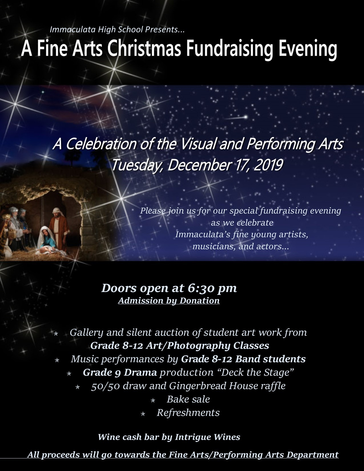 Fine Arts Evening - December 17th