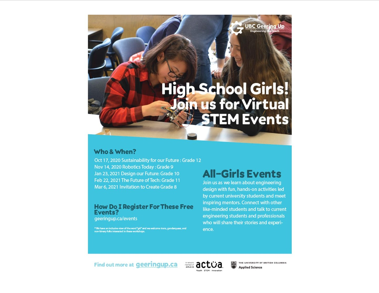 All Girls Virtual STEM Events!
