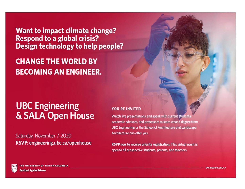 UBCO Engineering  & SALA Open House