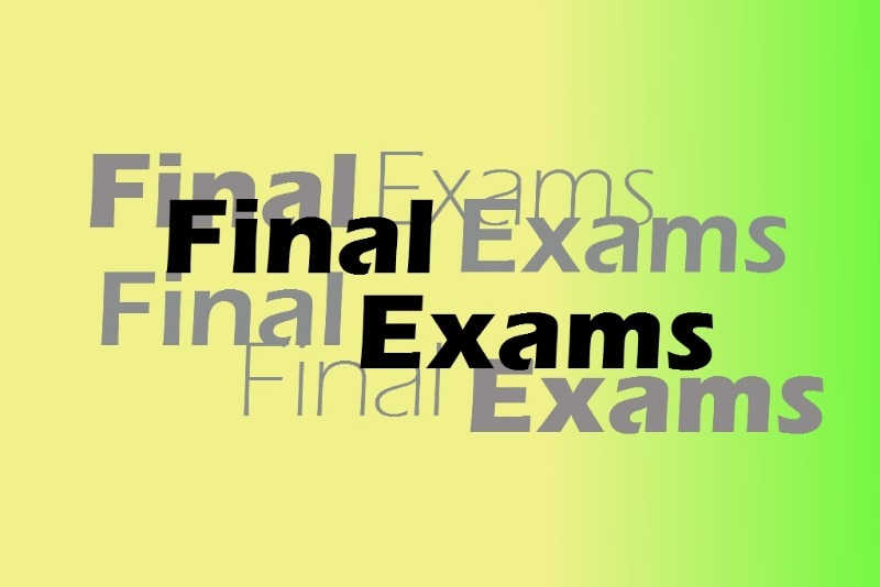 Final Exams June 10, 11, 14, 15 & 16