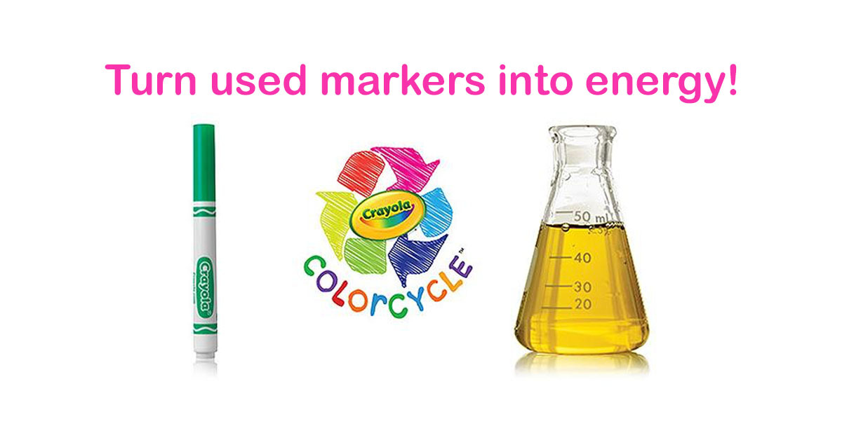Recycle your used markers!