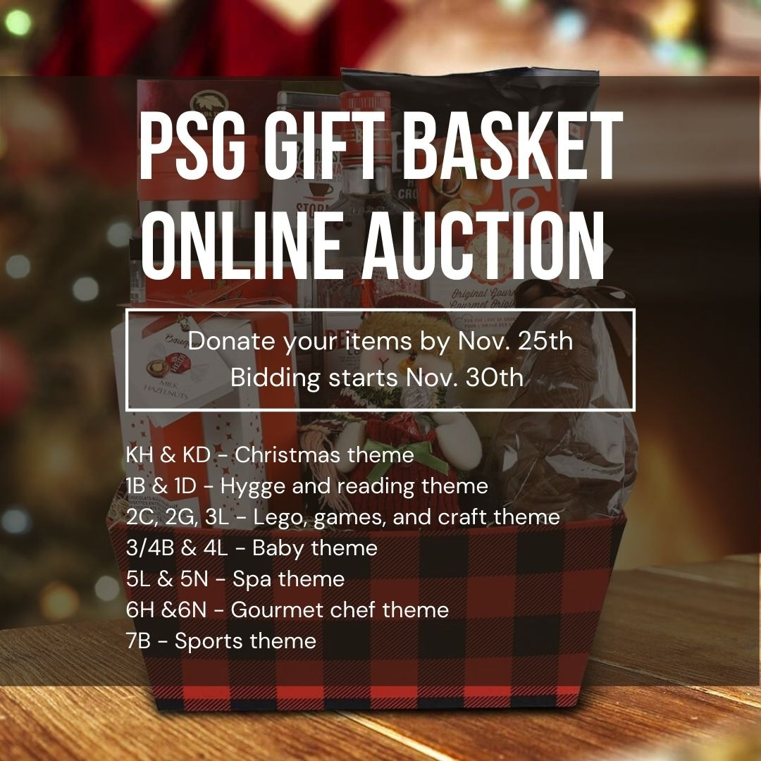 PSG Online Auction Christmas Fundraiser