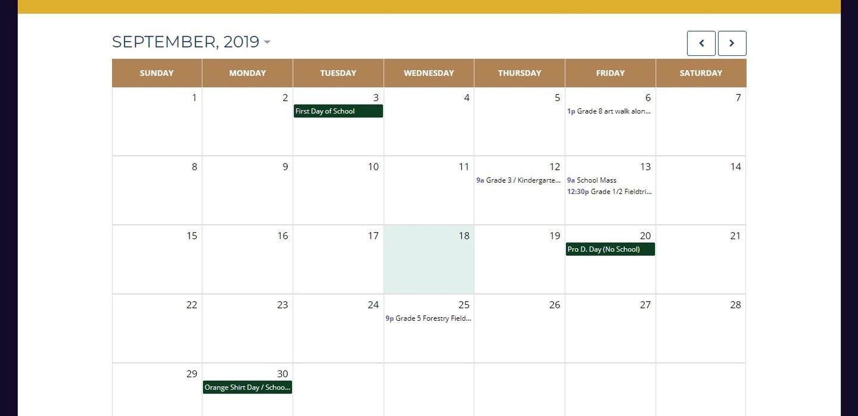 School calendar has been updated!